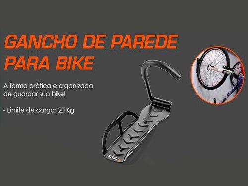 Gancho Pendurar Bicicleta Parede Suporte De Bike Com Apoio - SONNIC SOUND