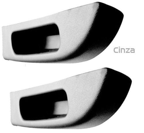 Par Puxador Da Porta Traseira Santana/quantum 1998 ao 2006 Cinza Claro AP447/AP448 - SONNIC SOUND