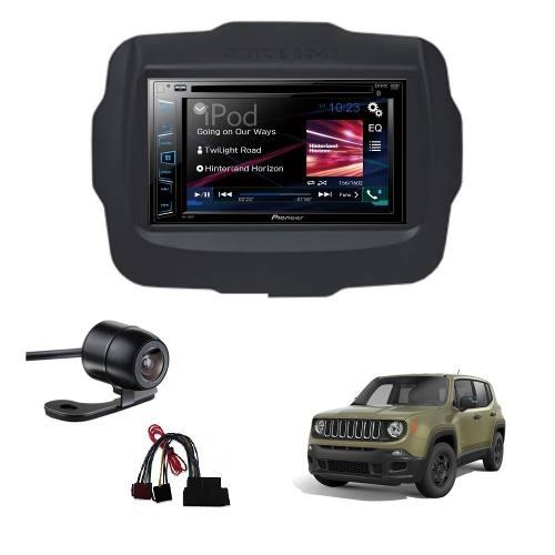 Multimidia Pioneer Avh-A208bt 2din Jeep Renegade AP874+câmera Ré - SONNIC SOUND