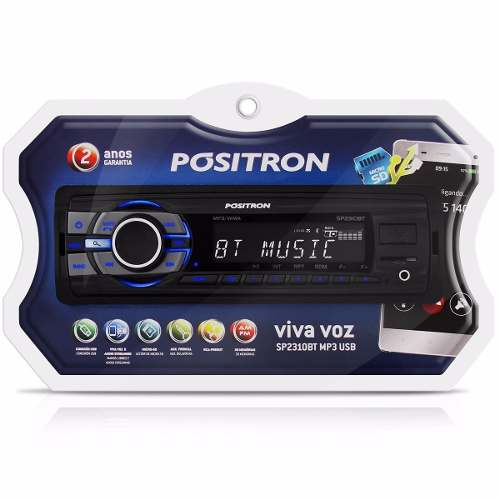 Auto Radio Positron Sp2310bt Bluetooth Mp3 Usb Viva Voz Aux - SONNIC SOUND