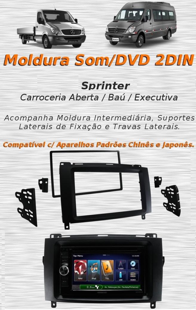 Moldura Painel Dvd 2 Din Multimídia Mercedes Benz Sprinter AP850 - SONNIC SOUND