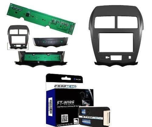 Moldura Painel Dvd 2 Din Mitsubishi Asx + Interface De Volante Faaftech Ft-Sw - SONNIC SOUND