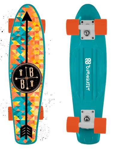 Skate Mini Cruiser Bob Burnquist Azul Es093 - SONNIC SOUND