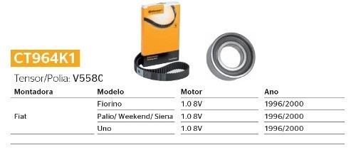 Kit Correia Dentada E Tensor Fiorino/Palio/Weekend/Siena/Uno 1.0 8v CT964K1 - SONNIC SOUND