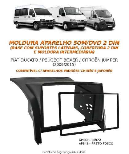 Multimidia Pioneer AVH-A208BT Citroën Jumper + Câmera Ré+moldura Painel - SONNIC SOUND
