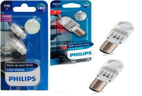 Kit Lampada Philips Pingo Led 5500k W5w T10+p21/5 Led Vision  - SONNIC PARTS