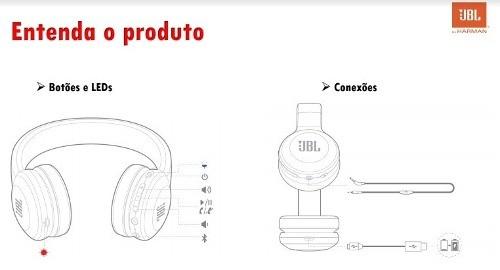 Fone De Ouvido Jbl E45bt On-ear Bluetooth 4.0 Original Preto - SONNIC SOUND