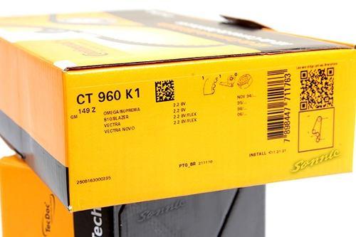 Kit Correia Dentada E Tensor Vectra/Omega,Suprema/S10/Blazer 2.2 8v Original CT960K1 - SONNIC SOUND
