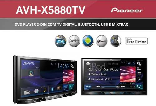 Multimídia Pioneer Golf/polo Avh-x598tv + Câmera De Re - SONNIC SOUND