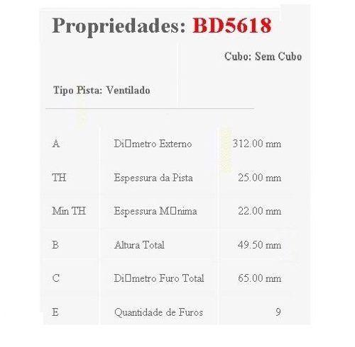 Par Disco Freio Dianteiro Golf 1.4 Tsi 2014/2017 Original Fremax BD5618 - SONNIC SOUND