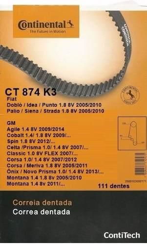 Kit Correia Dentada +tensor Spin/Corsa/Meriva 1.8 8v Original CT874K3 - SONNIC SOUND