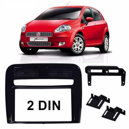 Moldura Painel Dvd Multimídia 2 Din Fiat Punto 2008/2012 Preto AP1103 - SONNIC SOUND