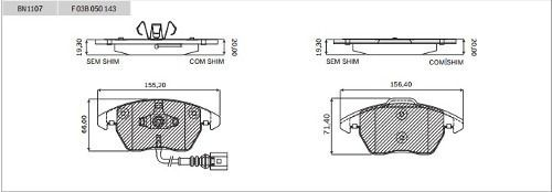 Pastilha Freio Bosch Cerâmica Dianteira Audi A4 2.0 Tfsi 2010/2014 BN1107 - SONNIC SOUND
