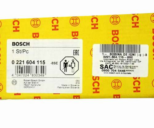 Bobina De Ignição Tiguan 2007/2017 2.0 Tfsi Original Bosch 0221604115 - SONNIC SOUND