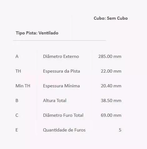 Disco E Pastilha De Freio Dianteiro Pajero Tr4/IO Original  BD7039/PD/74 - SONNIC SOUND