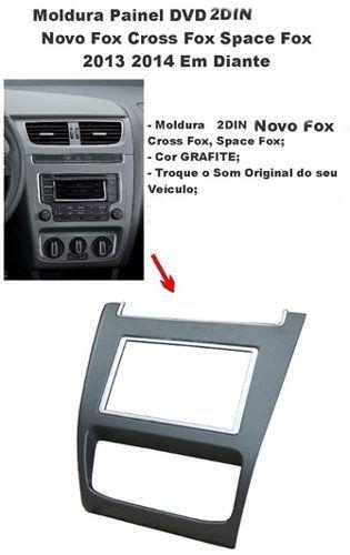 Moldura Dvd 2 Din Fox Cross Spacefox Grafite AP734 - SONNIC SOUND