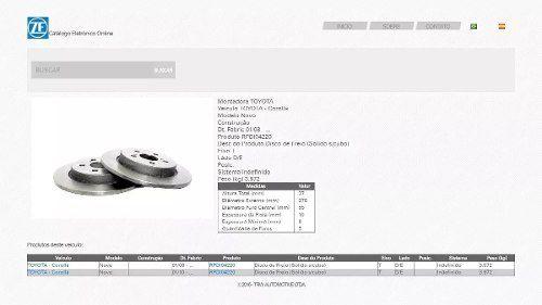 Par Disco Freio Traseiro Corolla 2007/2018 Original Trw RPDI04220 - SONNIC SOUND