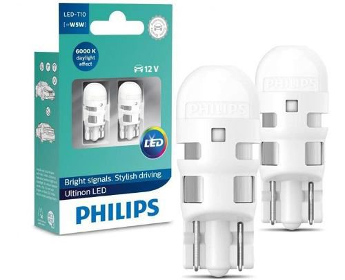 Par Lâmpada Philips H4 + T10 Ultinon Led 6200k Original Nova  - SONNIC PARTS