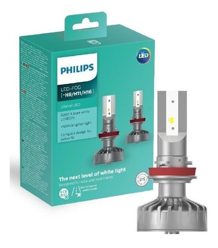 Par Lâmpada Led Philips 6200k H8 H11 H16 + Led T10 Philips  - SONNIC PARTS