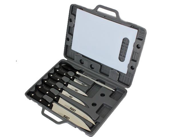 Maleta De Facas Kit Com 7 Pe�as Para Churrasco Facas Chaira e T�bua de Corte Western N27  - MGCOMPUTERS