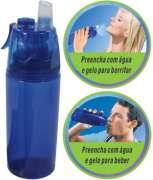 Garrafa Cantil Squeeze com Borrifador de Água O2 Cool Total Hidro 2282