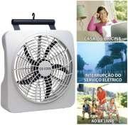 Ventilador Ventila Portátil O2 Cool 30cm Funciona com Pilhas ou Fonte Bivolt 127V 220V 2284 Branco