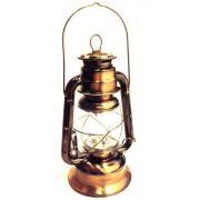 Luminária De Led Modelo Lampião Antigo Cor Cobre 25cm