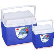 Kit Caixas T�rmicas Cooler 22,7 Litros e 9 Litros Gelado Batiki 10013332 Azul