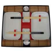 Conjunto Para Sushi em Porcelana Kit Com 10 Peças Wincy BC01013