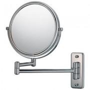 Espelho de Parede Duplo Com Aumento de 5X e Braço Móvel Articulado Para Banheiro Fashion Beauty JM311