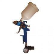 Pistola de Pintura Por Gravidade HVLP Com Regulador de Pressão Profissional EZ H827R