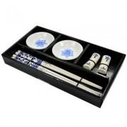 Kit Para Sushi em Porcelana Jogo Com 6 Peças Wincy DTF0103