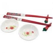 Kit Para Sushi em Porcelana Jogo Com 6 Peças Wincy DTF0104