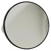 Espelho Com Aumento de 5X e Ventosas Para Fixar 14cm Fika FK7955 Preto