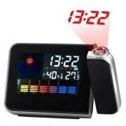 Relógio de Mesa Digital Com Projetor de Horas Despertador Temperatura E Umidade do Ar 8190
