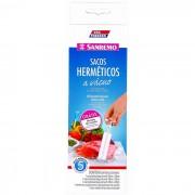Kit Sacos Herméticos a Vácuo Para Alimentos Vac Freezer 5 Sacos Para Armazenamento e Bomba Sanremo SR372