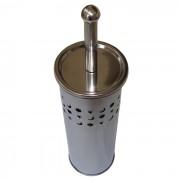 Escova Sanitária Para Banheiro Em Inox Com Recipiente Interno Kehome Estrelas 5675