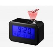 Relógio de Mesa Digital Com Projetor E Fala Hora Despertador Temperatura 806 Preto