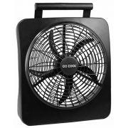 Ventilador Ventila Port�til O2 Cool 30cm Funciona com Pilhas ou Fonte Bivolt 127V 220V 2284 Preto
