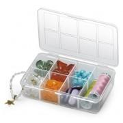 Caixa Organizadora Plástica Com Tampa 7 Divisões Mini Nitron 011