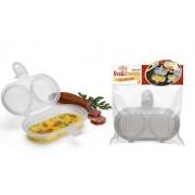Forma Para Fazer Ovo E Omelete No Microondas 2 em 1 Nitron 146