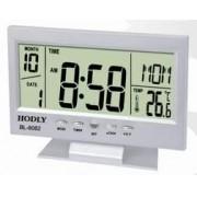Relógio De Mesa Digital Com Despertador Temperatura Calendário E Luz De Fundo 8082 Prata