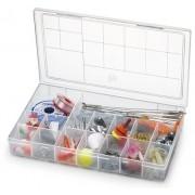 Kit Com 10 Caixas Organizadoras Plásticas Com Tampa 16 Divisões Grande Nitron 106