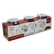 Kit 3 Potes Porta Temperos E Condimentos Em Vidro Wincy VDA0402