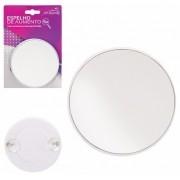 Espelho Com Aumento de 5X e Ventosas Para Fixar 14cm Art Beauty ZF2144 Branco