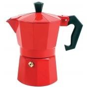 Cafeteira Tipo Italiana Vermelha Em Alumínio Para 6 Xícaras De Café Art House ZF2216
