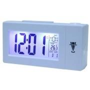Relógio De Mesa Digital Com Projetor de Horas Despertador E Temperatura 618 Branco