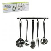 Conjunto De Utensílios De Cozinha Em Inox Com Suporte Wincy IXB1330