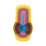 Kit 6 Colheres Medidoras Encaixáveis Coloridas Art House ZF2900