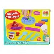 Kit Massinha De Modelar Modele E Brinque Bolo De Aniversário DM Toys DMT4733